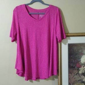 Plus Size Short Sleeve A Line Shirt
